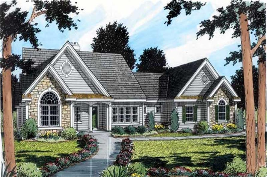 3-Bedroom, 2407 Sq Ft European Home Plan - 131-1174 - Main Exterior