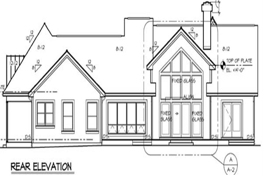 131-1174: Home Plan Rear Elevation