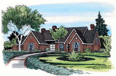 1-Bedroom, 4741 Sq Ft European Home Plan - 131-1182 - Main Exterior