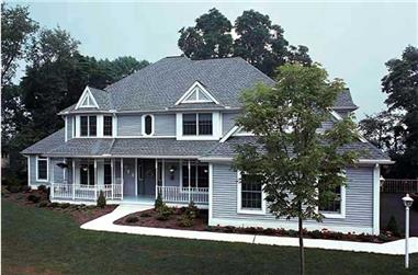 4-Bedroom, 4217 Sq Ft Country House Plan - 131-1184 - Front Exterior