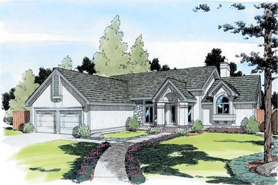 3-Bedroom, 2250 Sq Ft European House Plan - 131-1185 - Front Exterior