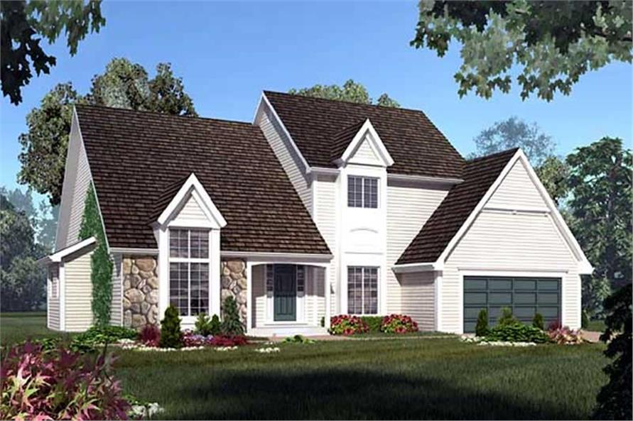 Home Plan Rear Elevation of this 4-Bedroom,2851 Sq Ft Plan -131-1188