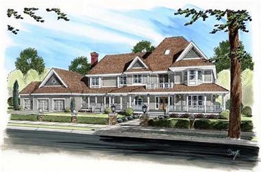 5-Bedroom, 4963 Sq Ft Craftsman House Plan - 131-1190 - Front Exterior