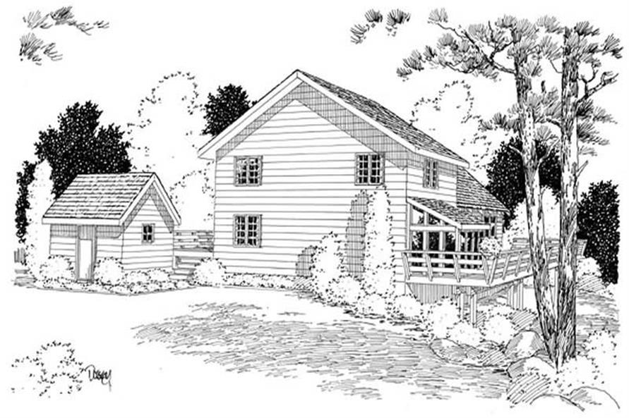 Home Plan Rear Elevation of this 3-Bedroom,2015 Sq Ft Plan -131-1195