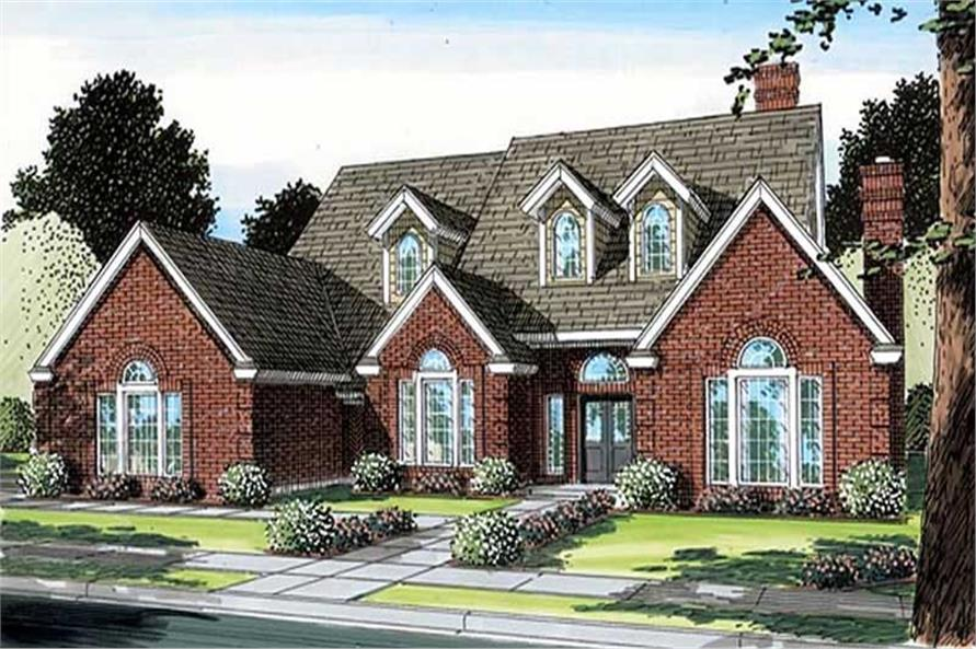 5-Bedroom, 3935 Sq Ft Cape Cod House Plan - 131-1196 - Front Exterior