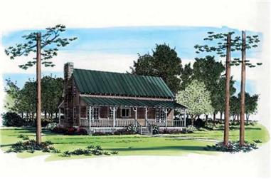 2-Bedroom, 1652 Sq Ft Country House Plan - 131-1201 - Front Exterior