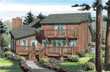 3-Bedroom, 1908 Sq Ft Vacation Homes House Plan - 131-1204 - Front Exterior
