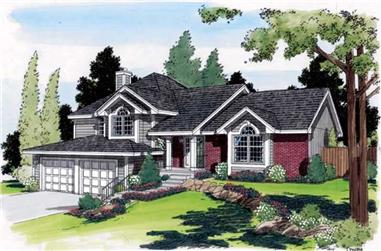 3-Bedroom, 2387 Sq Ft Contemporary House Plan - 131-1206 - Front Exterior