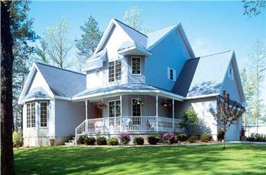 4-Bedroom, 2563 Sq Ft Farmhouse Home Plan - 131-1207 - Main Exterior
