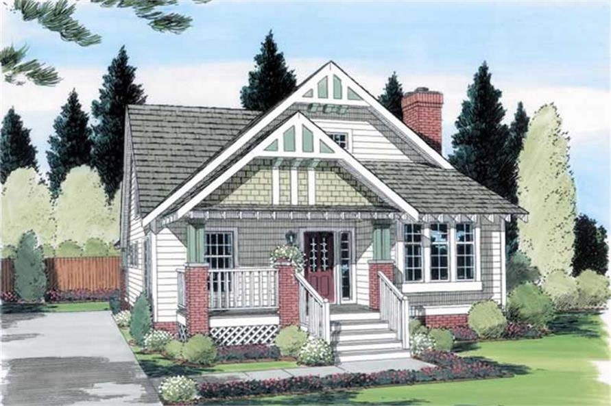 4-Bedroom, 1595 Sq Ft Ranch Home Plan - 131-1208 - Main Exterior