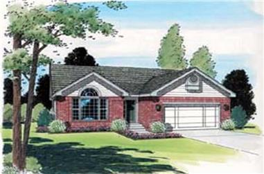 3-Bedroom, 1266 Sq Ft Ranch House Plan - 131-1216 - Front Exterior