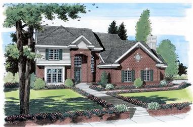 4-Bedroom, 3218 Sq Ft Colonial Home Plan - 131-1218 - Main Exterior