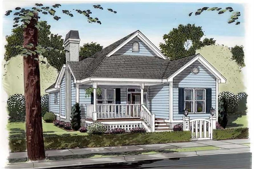 Home Plan Front Elevation of this 3-Bedroom,1451 Sq Ft Plan -131-1220