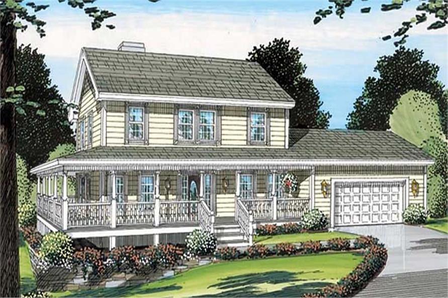 3-Bedroom, 2033 Sq Ft Coastal House Plan - 131-1226 - Front Exterior
