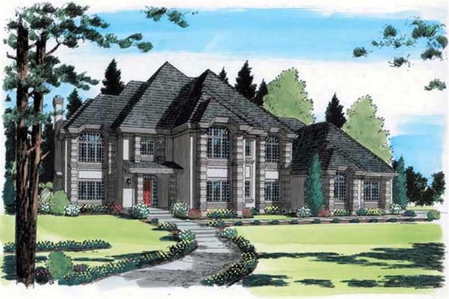 5-Bedroom, 4065 Sq Ft European Home Plan - 131-1230 - Main Exterior