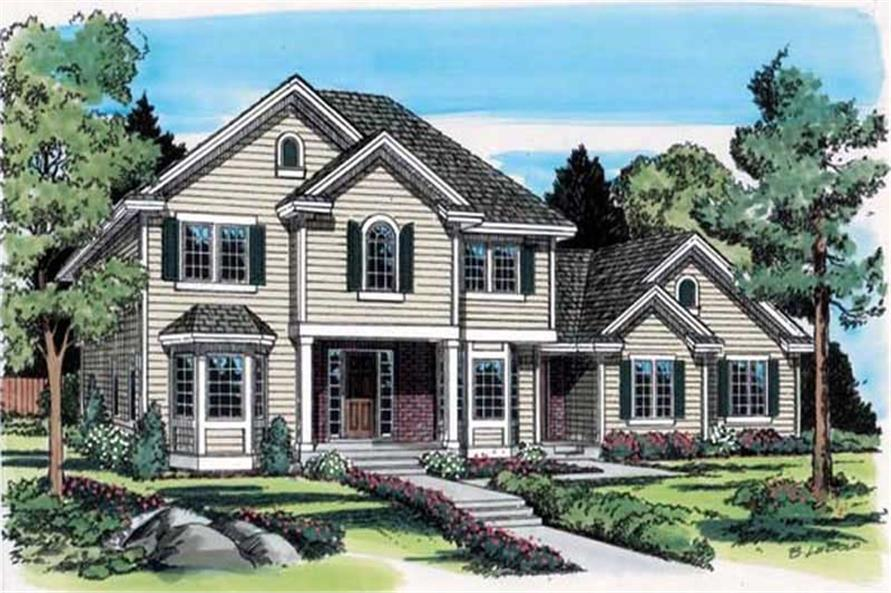 Main image for house plan # 19989
