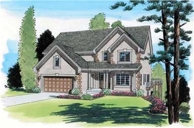 4-Bedroom, 2648 Sq Ft Traditional Home Plan - 131-1233 - Main Exterior