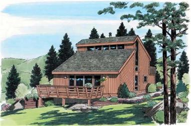 3-Bedroom, 1298 Sq Ft Small House Plans - 131-1236 - Front Exterior
