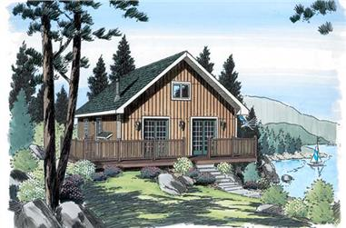 3-Bedroom, 972 Sq Ft Cottage Home Plan - 131-1243 - Main Exterior