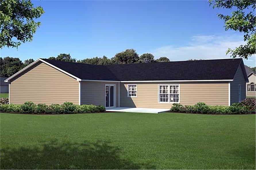 Home Plan Rendering of this 3-Bedroom,1631 Sq Ft Plan -1631