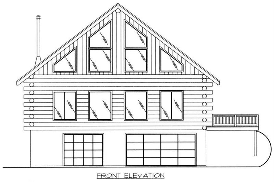 Home Plan Front Elevation of this 3-Bedroom,2368 Sq Ft Plan -132-1102