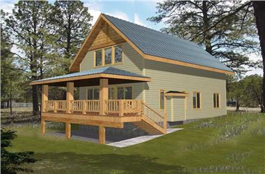 1-Bedroom, 1140 Sq Ft House Plan - 132-1105 - Front Exterior