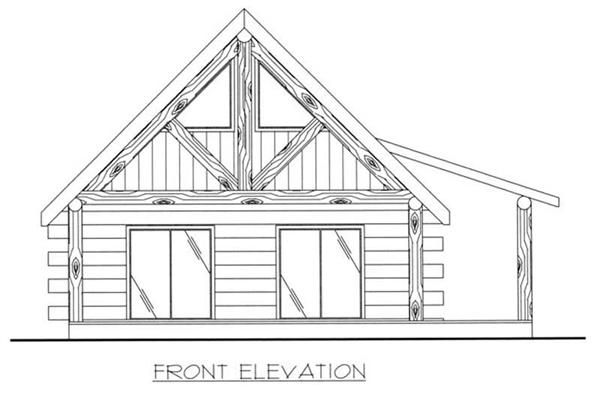 This image shows the living areas of the home plan.