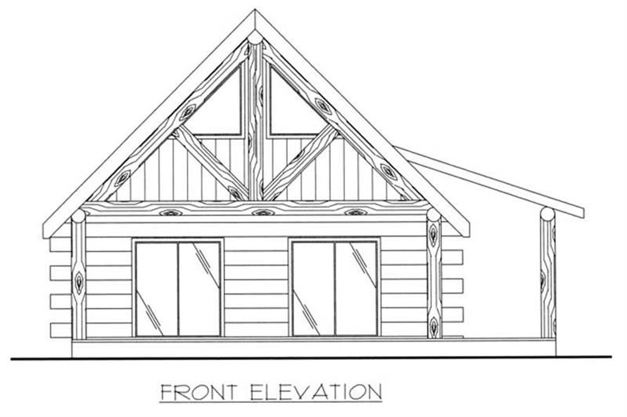 Home Plan Front Elevation of this 1-Bedroom,689 Sq Ft Plan -132-1107