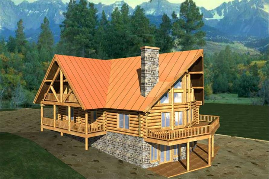 Log Home Plans Home Design Ghd 1012 9207