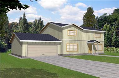 3-Bedroom, 1864 Sq Ft Ranch Home Plan - 132-1180 - Main Exterior