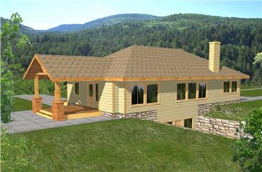 3-Bedroom, 3260 Sq Ft Country Home Plan - 132-1181 - Main Exterior