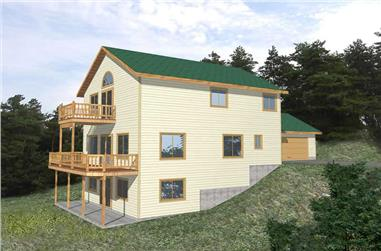 4-Bedroom, 1855 Sq Ft Vacation Homes Home Plan - 132-1183 - Main Exterior