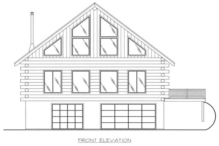 Home Plan Front Elevation of this 3-Bedroom,2368 Sq Ft Plan -132-1185