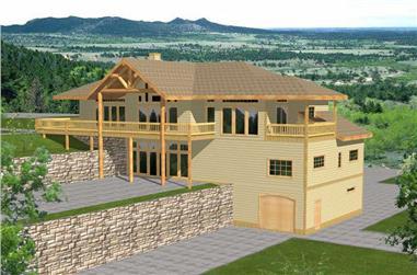 4-Bedroom, 3971 Sq Ft Ranch Home Plan - 132-1187 - Main Exterior