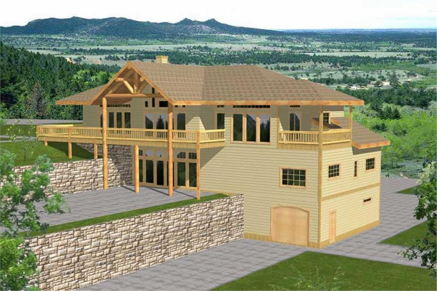 4-Bedroom, 3971 Sq Ft Ranch Home Plan - 132-1187 - Main Exterior