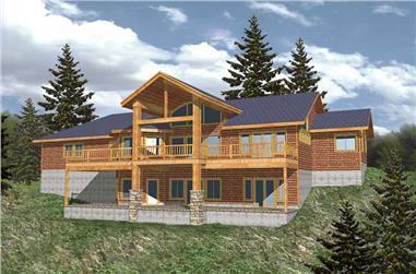 1-Bedroom, 3577 Sq Ft Home Plan - 132-1188 - Main Exterior