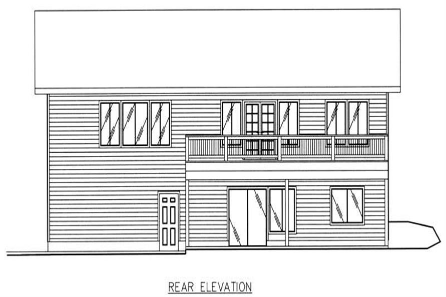 Home Plan Rear Elevation of this 3-Bedroom,2763 Sq Ft Plan -132-1189