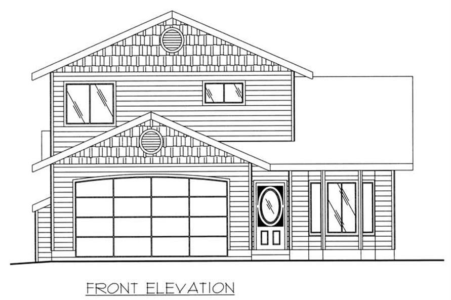 Home Plan Front Elevation of this 3-Bedroom,2569 Sq Ft Plan -132-1190