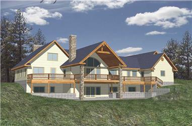 3-Bedroom, 2522 Sq Ft Rustic House Plan - 132-1192 - Front Exterior