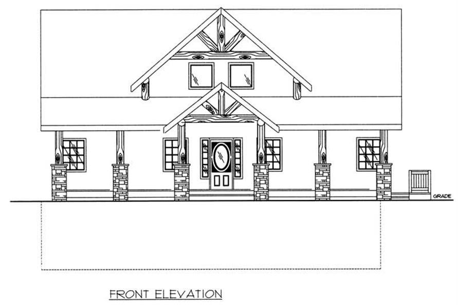 Home Plan Front Elevation of this 3-Bedroom,2281 Sq Ft Plan -132-1193