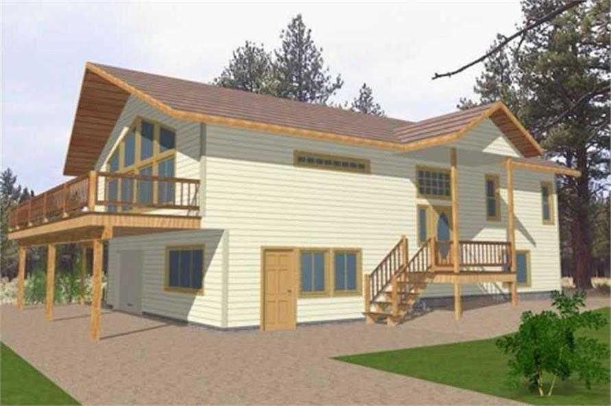 3-Bedroom, 2166 Sq Ft Ranch House Plan - 132-1196 - Front Exterior