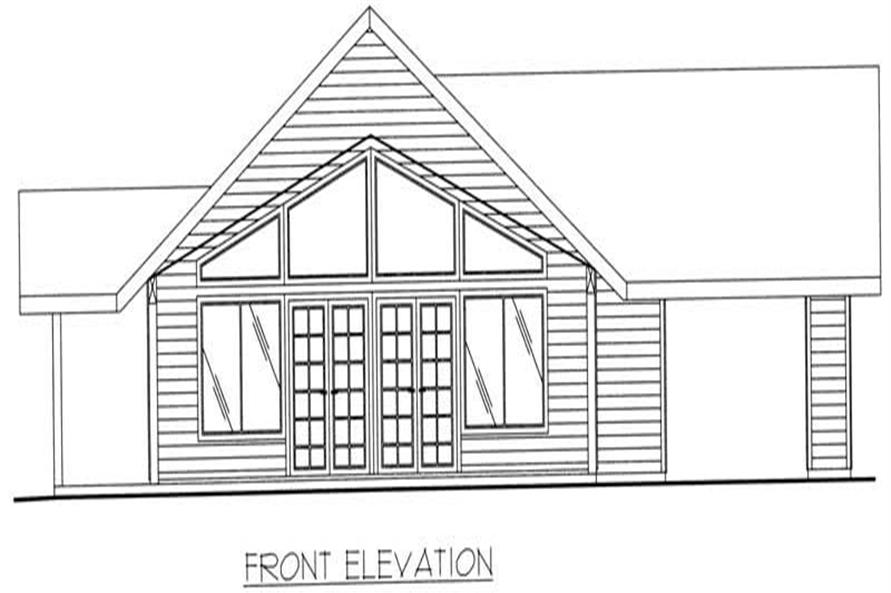 Home Plan Front Elevation of this 1-Bedroom,1120 Sq Ft Plan -132-1197