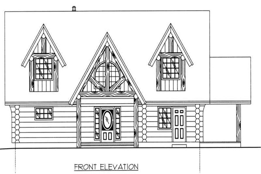 Home Plan Front Elevation of this 3-Bedroom,3547 Sq Ft Plan -132-1199