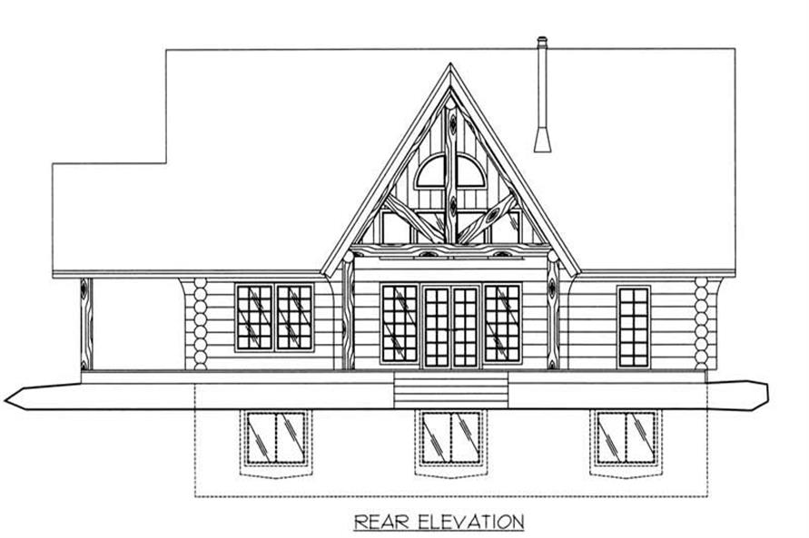 Home Plan Rear Elevation of this 3-Bedroom,3547 Sq Ft Plan -132-1199
