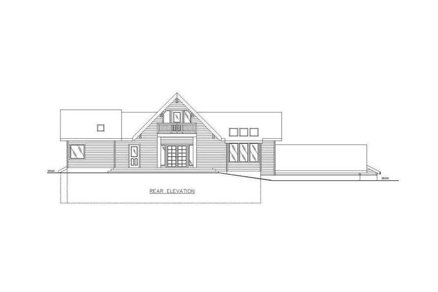 Home Plan Rear Elevation of this 3-Bedroom,3837 Sq Ft Plan -132-1202