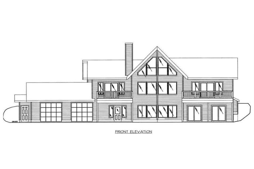 Home Plan Front Elevation of this 3-Bedroom,3837 Sq Ft Plan -132-1202