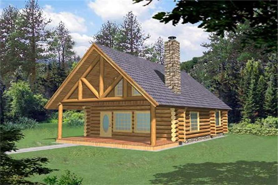 1-Bedroom, 1040 Sq Ft Small House Plans - 132-1204 - Front Exterior