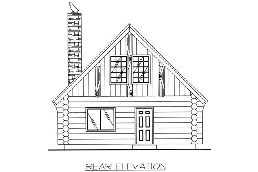 Home Plan Rear Elevation of this 1-Bedroom,1040 Sq Ft Plan -132-1204