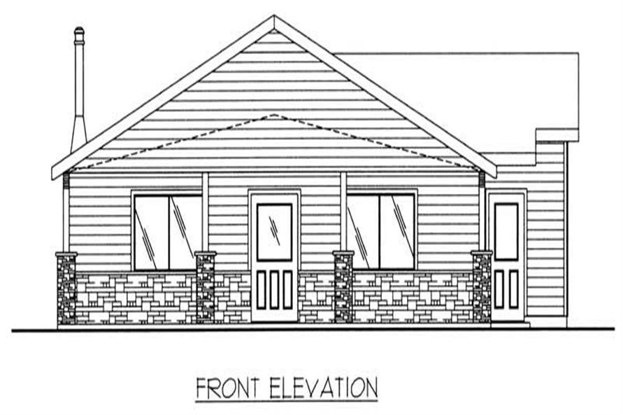 Home Plan Front Elevation of this 2-Bedroom,1584 Sq Ft Plan -132-1205