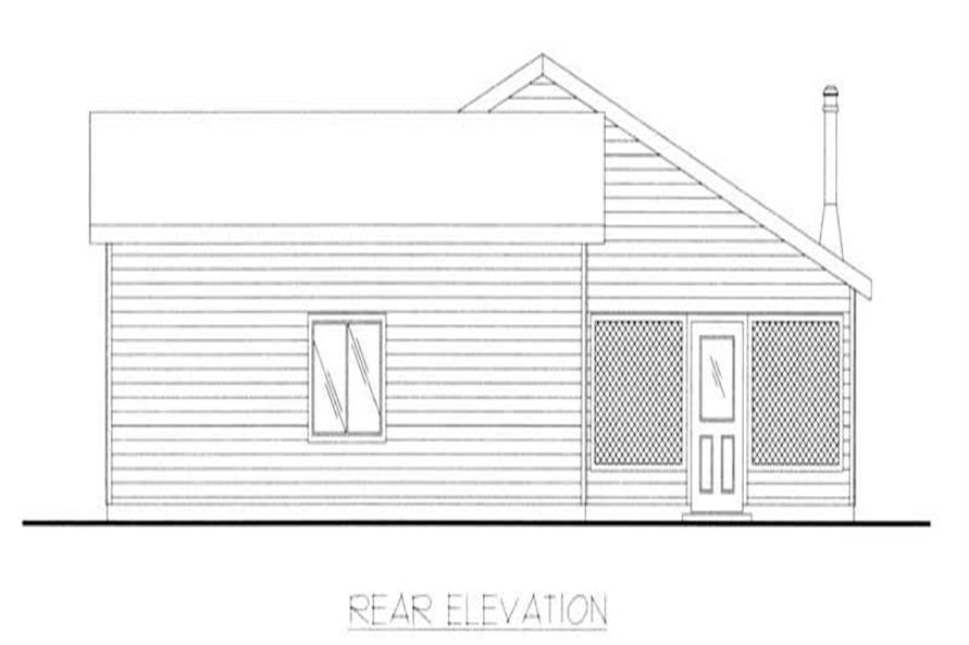 Home Plan Rear Elevation of this 2-Bedroom,1584 Sq Ft Plan -132-1205
